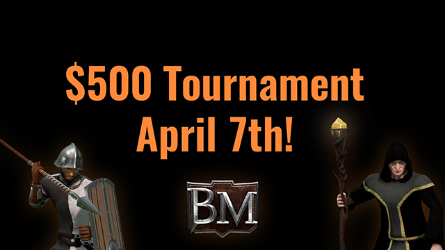 $500 Bannermen Tournament, Registration Now Open!